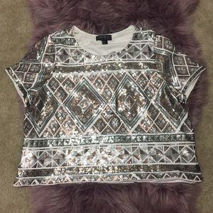 Forever21 Sequence party top/Blouse
